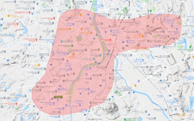 ウーバーイーツ飯塚エリア