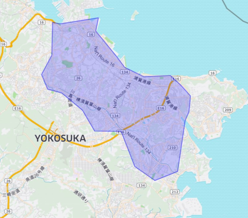ウーバーイーツ横須賀エリア